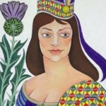bellacaladonia image of scottish women with a large thistle