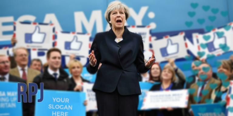 Theresa May's PhotoshoppedDemocracy