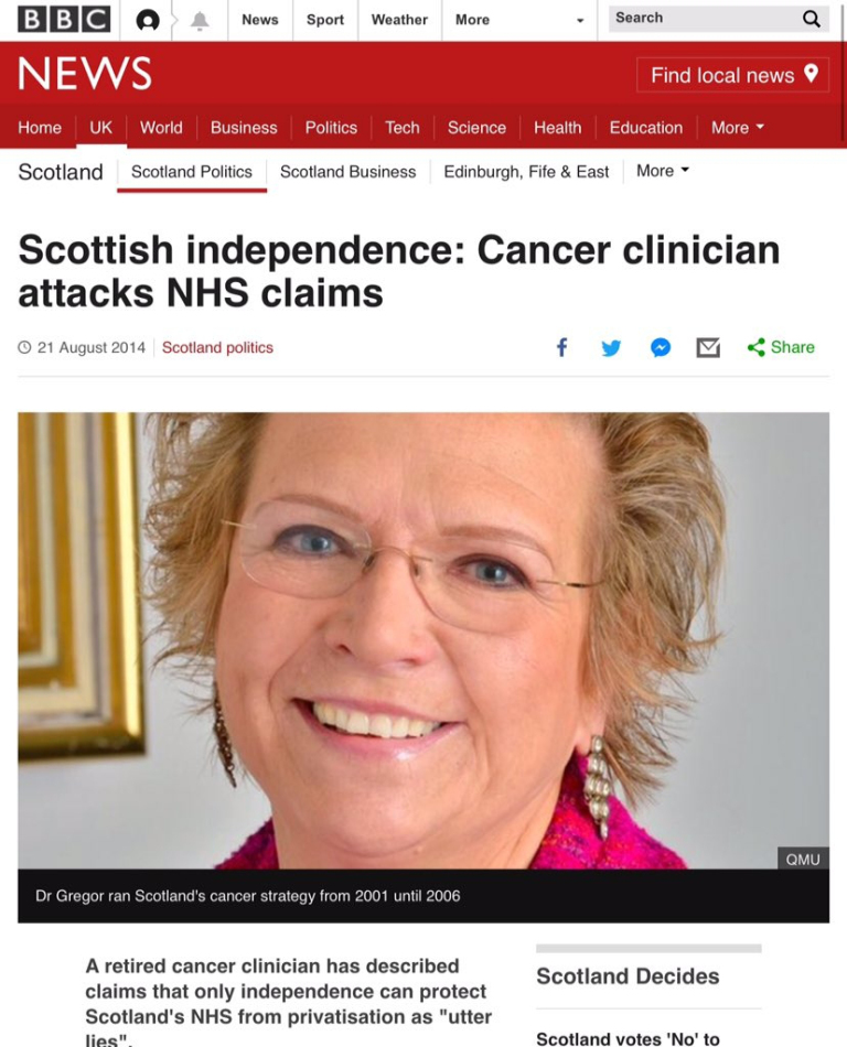 Dr Anna Gregor (Retd) – In the Past An Advocate Of Progressive Healthcare – In the present a Whistle-Blower with no Pea In Her Whistle – Yet The Unionists Keep Trotting her Out To Start Arguments With Little Substance Since They Are At Odds With Reality