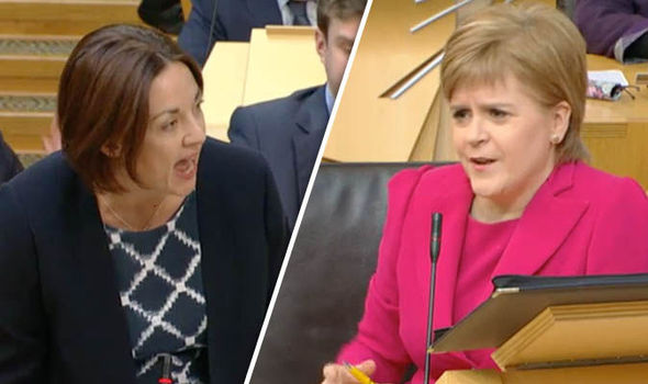 Kezia to Nicola: '94.7%? That's disgraceful, 0.3% below target.Resign!'