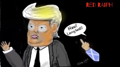 Donald trump vs Red Raiph and the winner is …
