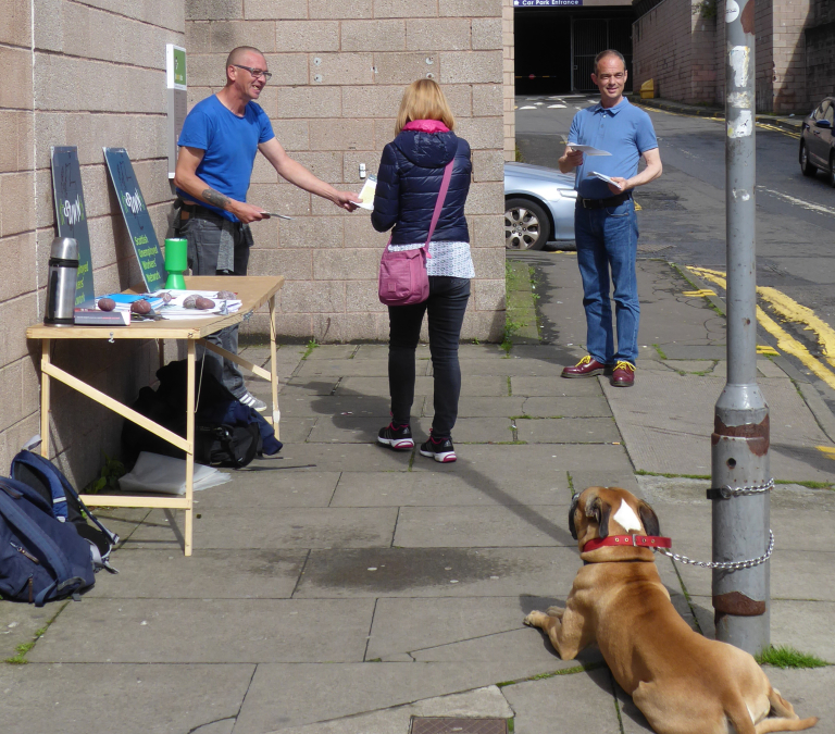 Welfare cuts go way beyond money – a report from this week'sstall