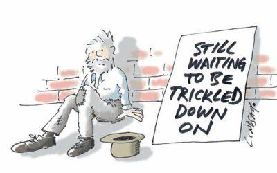 A few words about trickle down economics