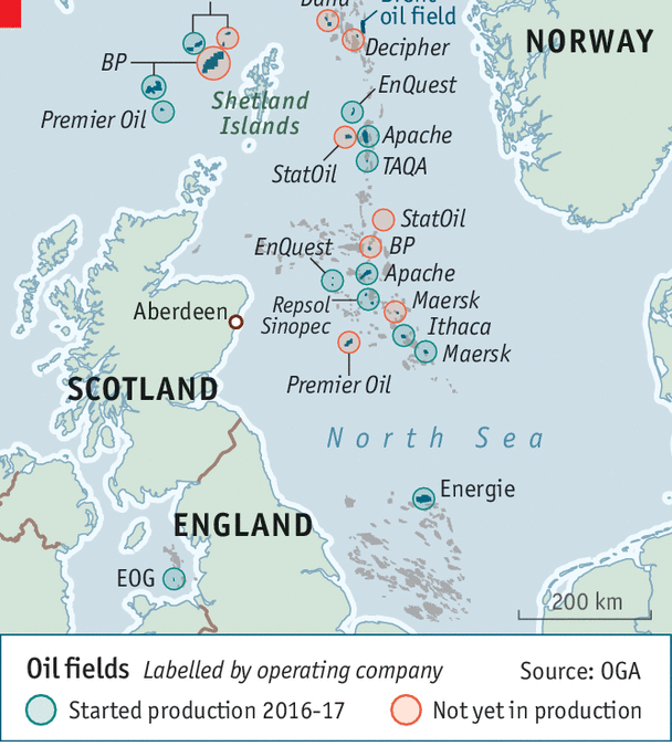 Survey of oil industry chiefs shows confidence in North Sea doubling in one year